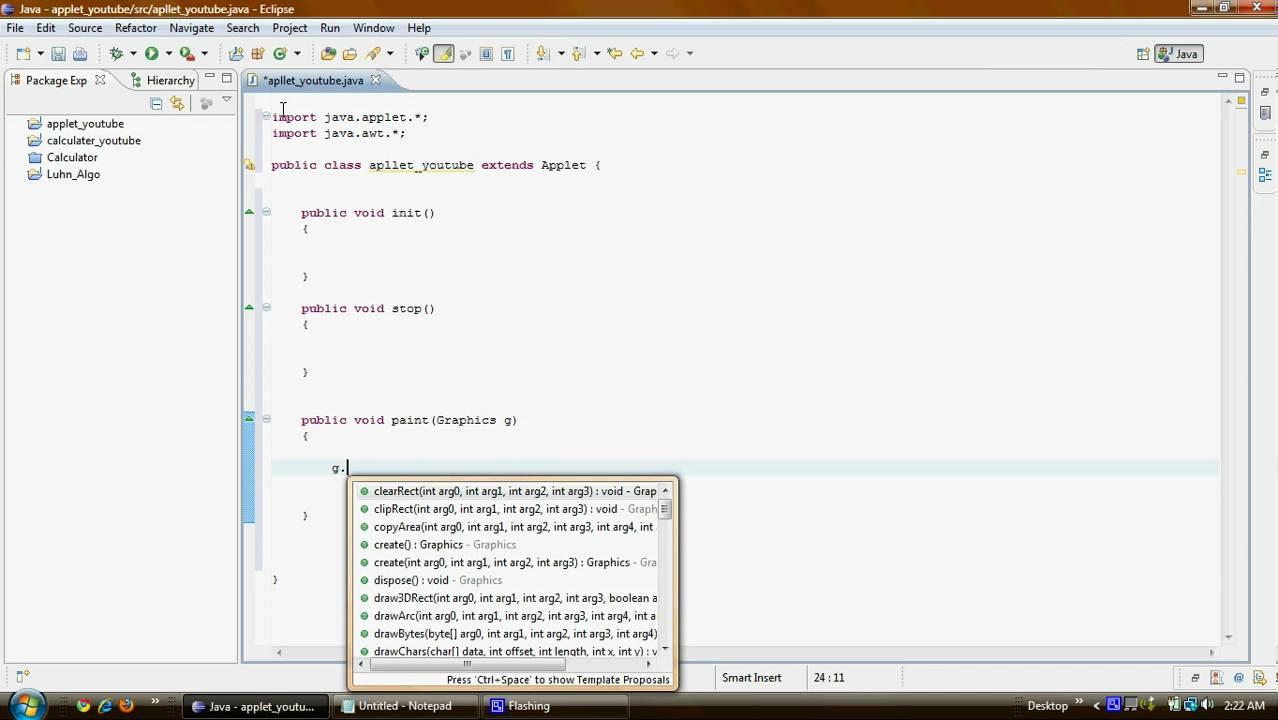 Java Applet Programming Tutorials
