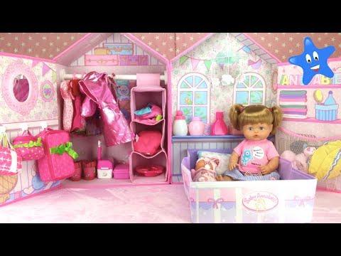 NUEVA CASITA DORMITORIO Baby Annabell para mi muñeca NENUCO ANI con muchos accesorios
