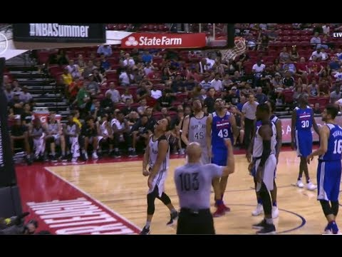 Bryn Forbes  vs 76ers  Summer League 7/9/17