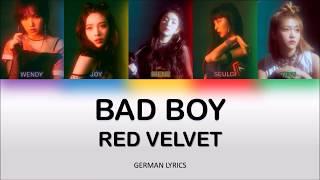 Red Velvet Bad Boy German Lyrics [Han/Rom/Ger]