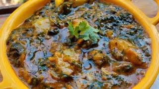 आलू और पालक की ऐसी लाजवाब और मजेदार सब्जी जो एक बार बनाई तो खाते   ही रह जाओगे | Aloo Palak Ki Sabzi