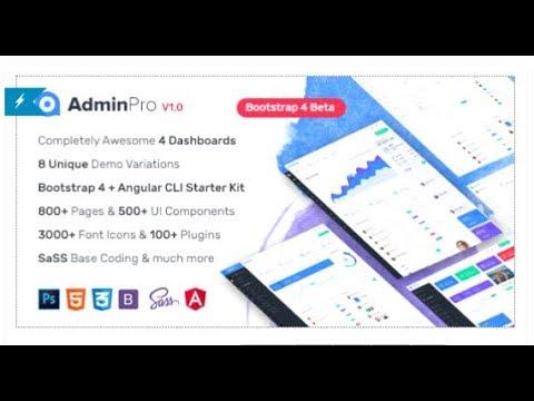 AdminPro - Bootstrap4 Dashboard Template + Angular CLI Starter ...
