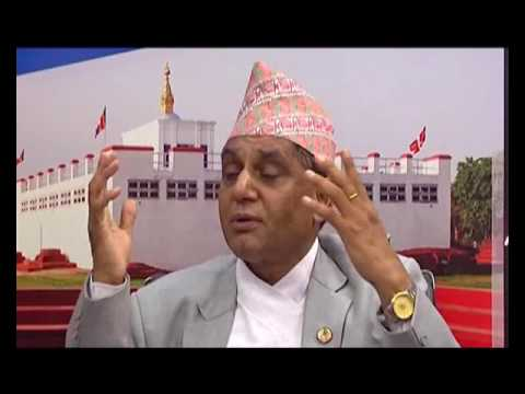 Ananda Prasad Pokharel Minister for Culture Tourism and Civil Aviation with Rishi DhamalaARTHIKBAHAS