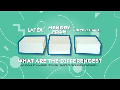 Talalay latex, Memory Foam and Polyurethane? - What are the differences?