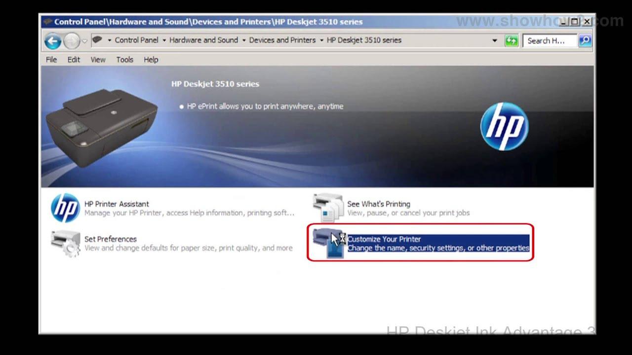 HP Deskjet Ink Advantage 3515 Printing Test Page Windows