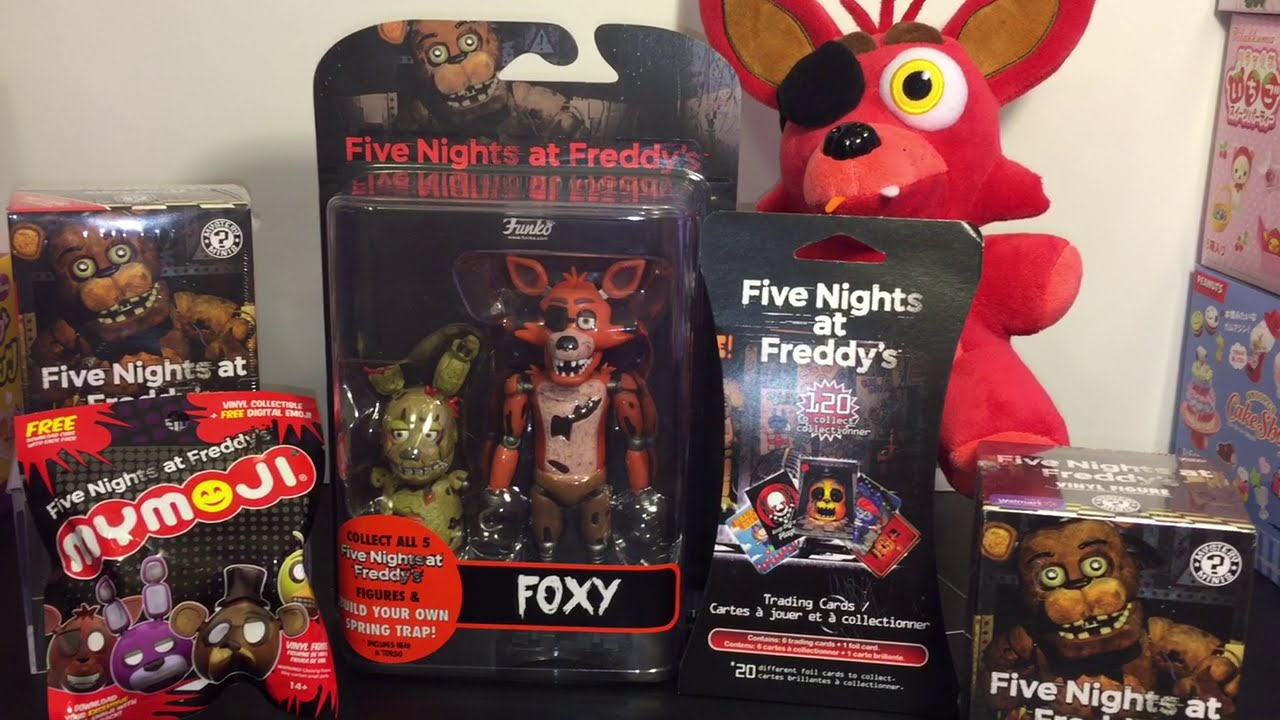 5 Nights At Foxys five nights at freddy's foxy funko action figure, mystery minis blind  boxes, cards, mymoji toys