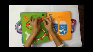Quiet book for kid/busy book for kid/The first book ABC 3/Ideas for the first book ABC/ABC busy book