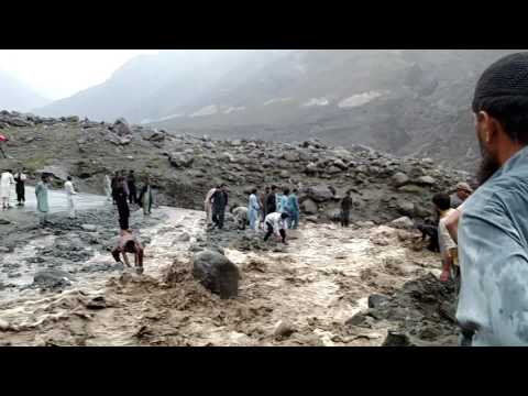 Dangerous flood at KKH GB  PAKISTAN