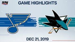 NHL Highlights   Blues vs. Sharks – Dec. 21, 2019
