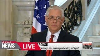[LIVE/ARIRANG NEWS] Pence declares 'maximum pressure' on North Korea - 2018.02.19