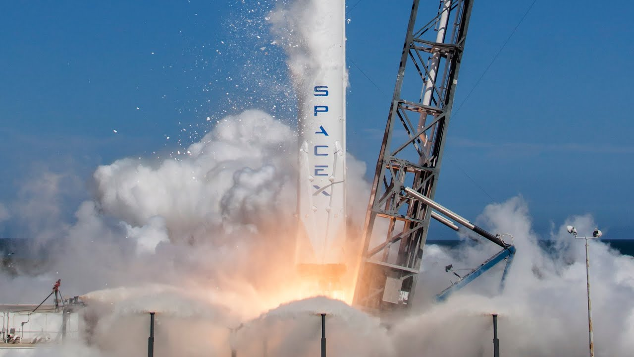 SpaceX designs manufactures and launches advanced rockets and spacecraft
