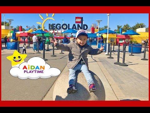 LEGOLAND Family Fun like Ryan ToysReview Amusement Theme Park for kids with Aidan Playtime!