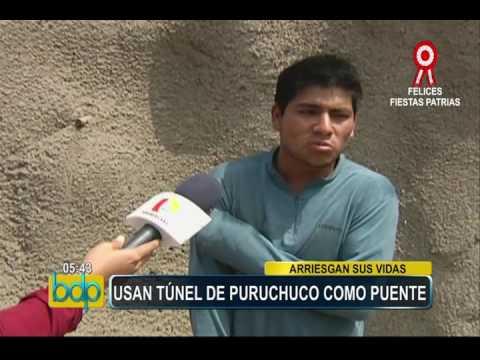 Ate Vitarte: túnel de Puruchuco es usado como puente peatonal (2/2)