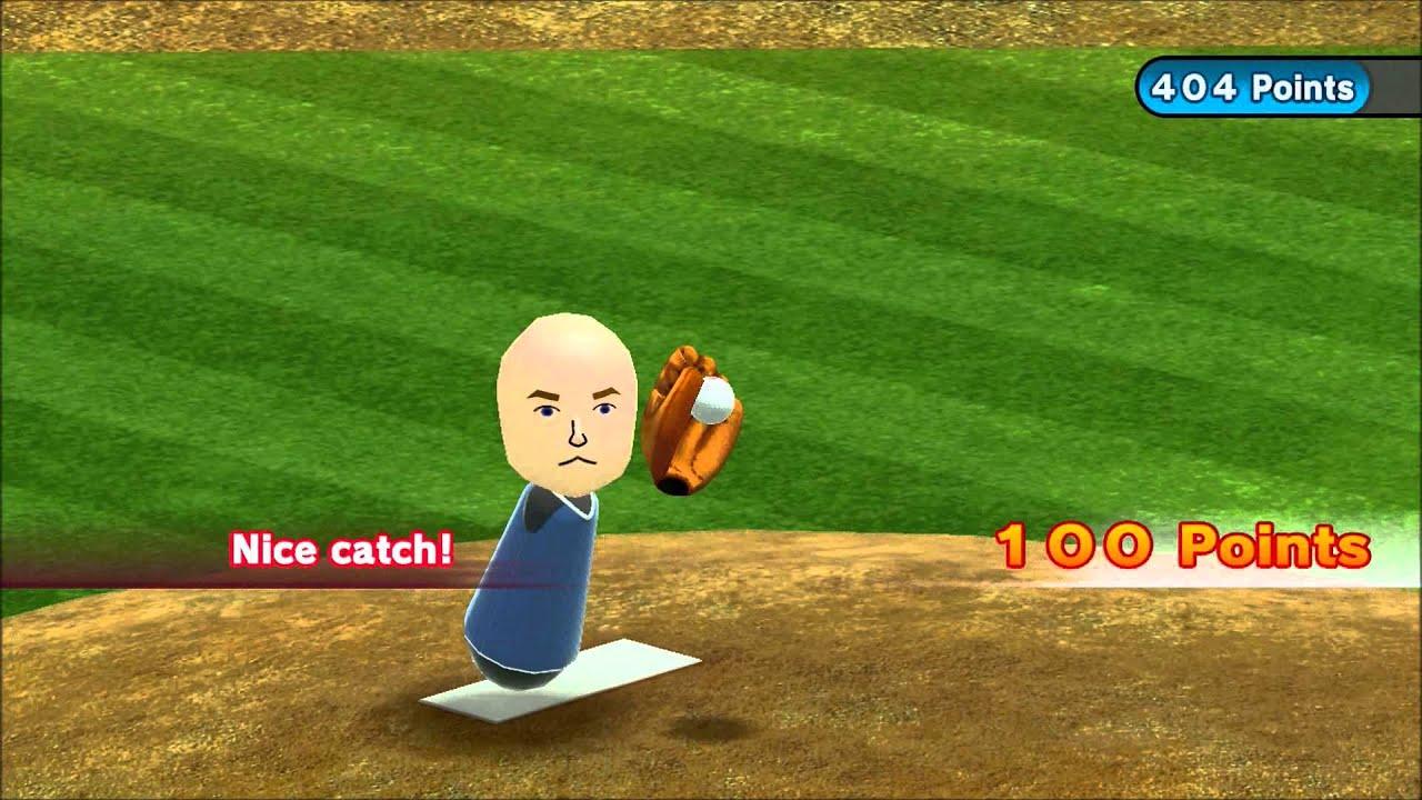 Wii Sports Club Baseball Skill Sharper Pitch For Prizes