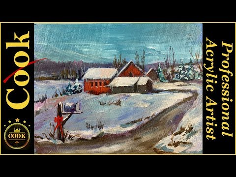 Going Home for the Holidays Acrylic Painting Tutorial for Beginner and Advanced Artists