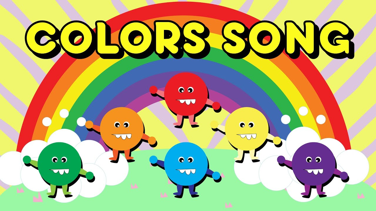 rainbow colors song with and lazer nursery