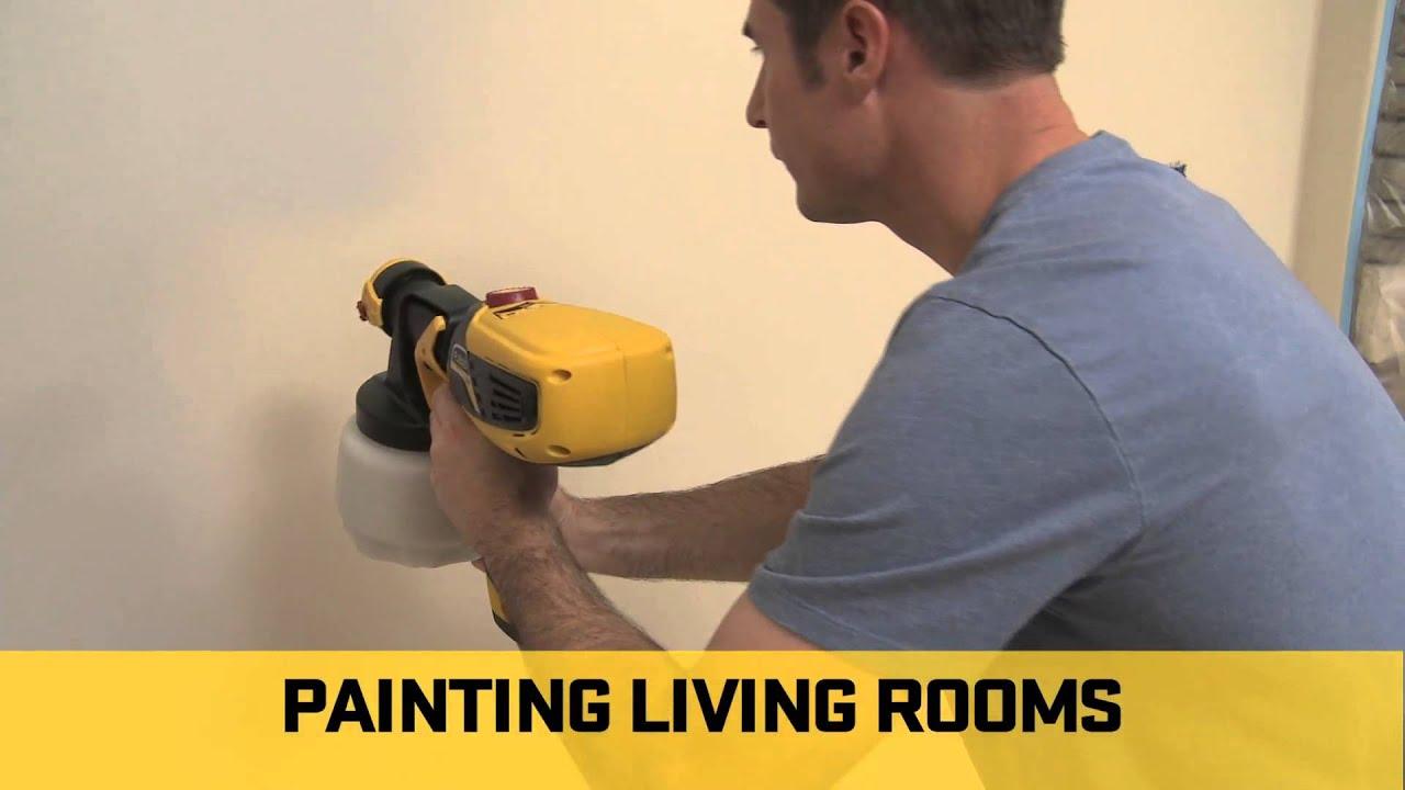 Wagner Flexio Sprayer - Interior Projects - YouTube