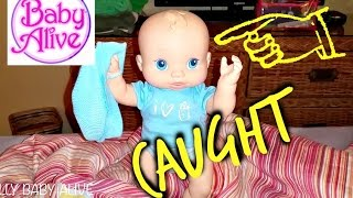 Baby Alive BOY was Caught! Baby Jumping on Bed Poops and Pees Charms! Cries for Milk Bottle Feeding!