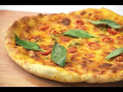 صورة  طريقة عمل البيتزا اروع بيتزا بساويها بحياتي بيتزا هت اختصار للوقت وبطريقة احترافية هشة وأطراف مقرمشة وطرية بنفس الوقت طريقة عمل البيتزا من يوتيوب