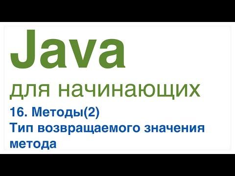 Java для начинающих. Урок 16: Тип возвращаемого значения метода.