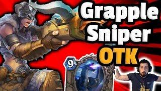 30+ Damage OTK - Grapplesniper Secretly Best Card - Hearthstone Descent Of Dragons