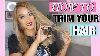 DIY: HOW TO TRIM YOUR HAIR AT HOME