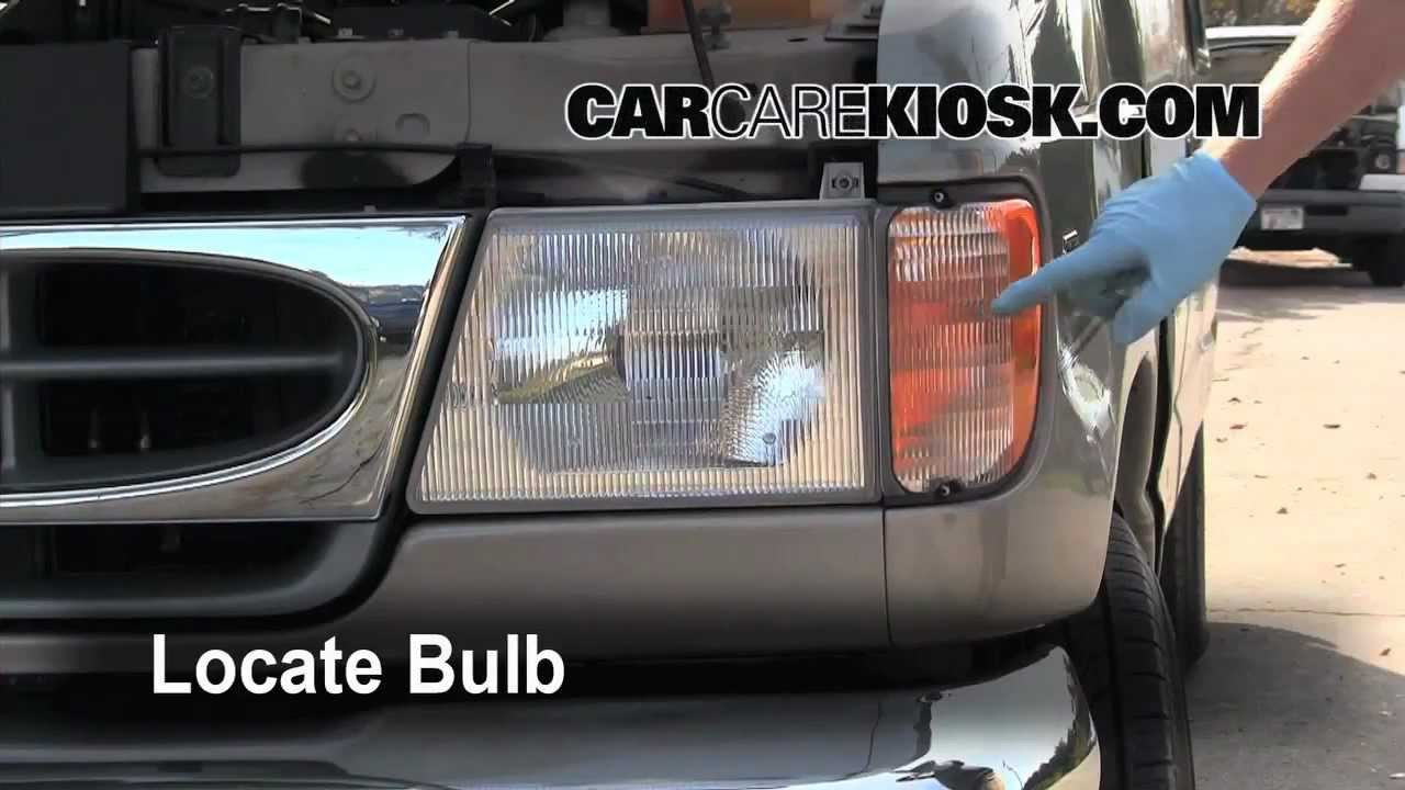 2001 Ford E 150 How To Change The Headlight Turn Signal