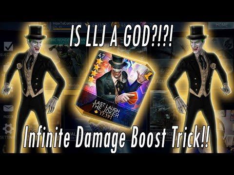 INFINITE DAMAGE BOOST TRICK! Last Laugh Joker, Sub-Zero & Dr Fate = Best Team Injustice 2 Mobile!!