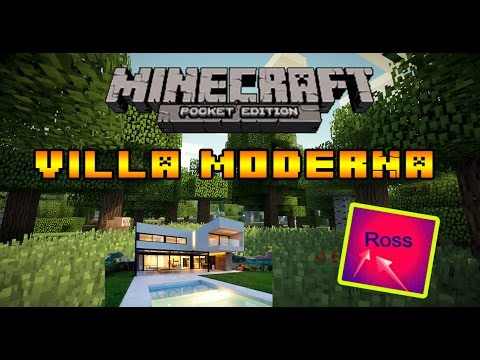 minecraft pe house 7 villa moderna youtube