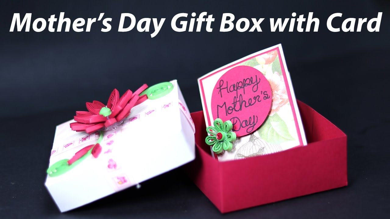 Easy Mother S Day Box Card Homemade Mother S Day Gift Box With Card