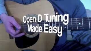 how to tune a guitar to open d tuning, great for blues acoustic slide