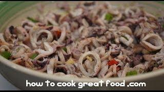 Kinilaw Na Pusit Recipe - Squid Salad Pinoy Style Filipino Cooking