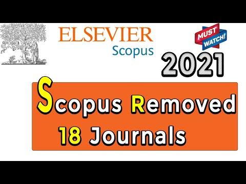 Scopus Removed 18 Journals II Scopus Update March 2021 II My Research Support