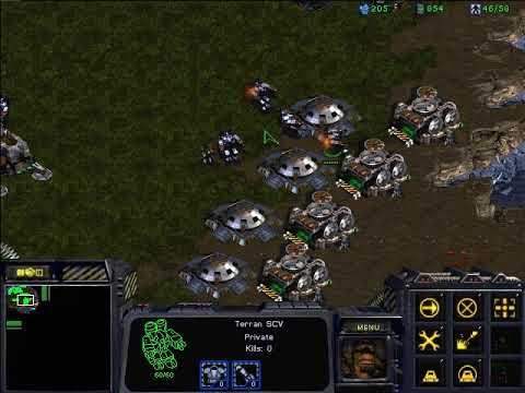 Download StarCraft Brood War - 1 Terran vs 7 Zerg ( vs 7 computers )