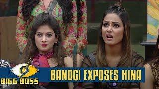 Bigg Boss 11 Bandgi blames Hina for dirty politics