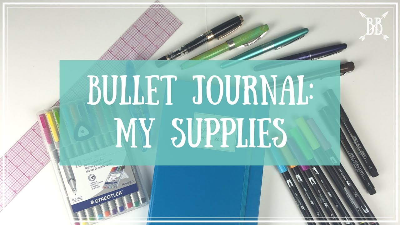 my bullet journal supplies youtube. Black Bedroom Furniture Sets. Home Design Ideas