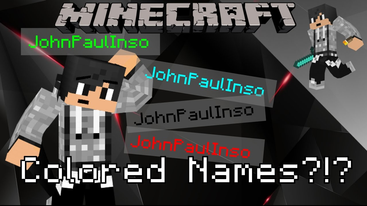 Minecraft How To Change The Color Of Your Name In Custom - Minecraft player name andern