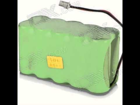Download AOB 10*4/5A2000 12V 2000mAh Rechargeable Ni-MH Battery Pack - Green (10cm)