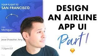 Flight Ticket App Interface Design Part 1 • UI Design Tutorial