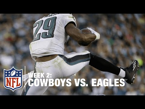 Eagles Demarco Murray Hurdles His Old Teammate | Cowboys vs. Eagles | NFL