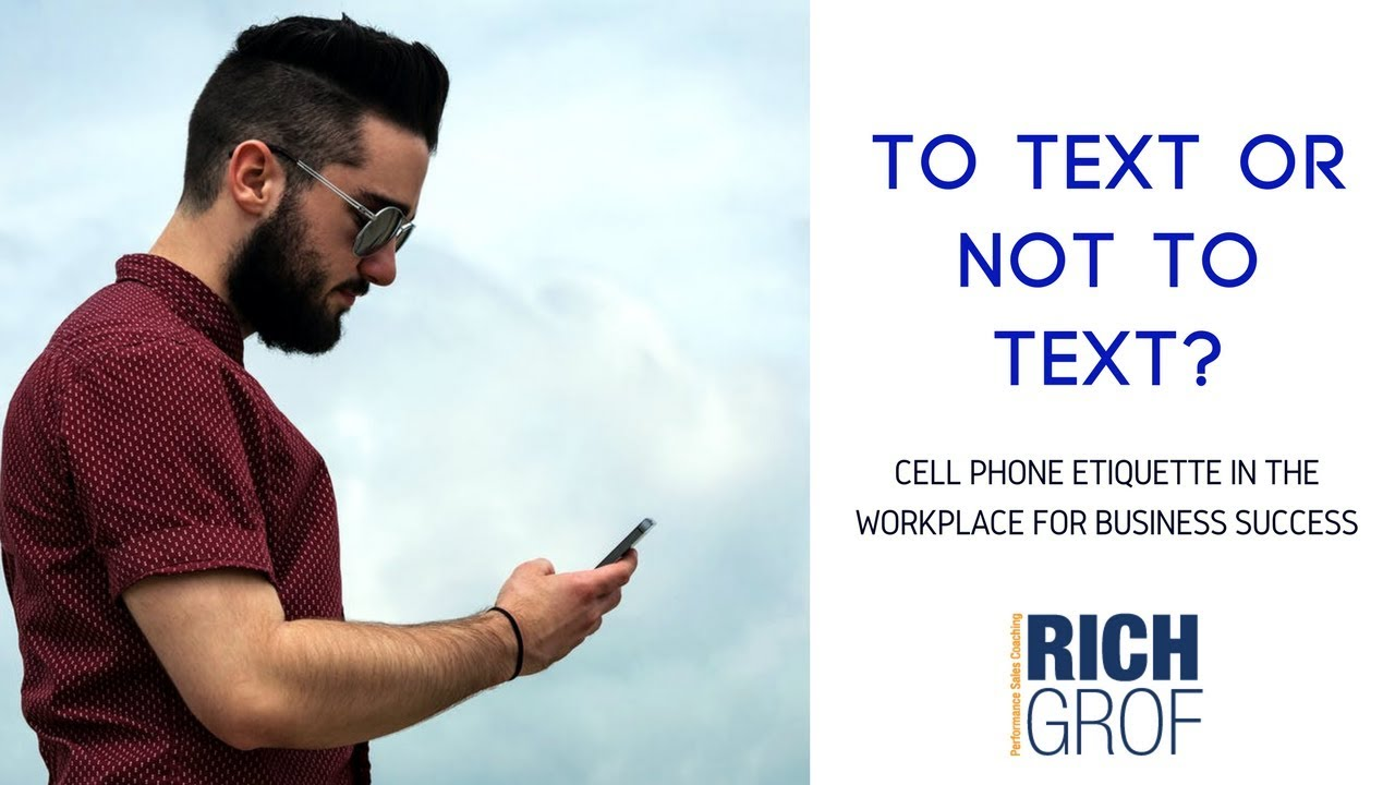 Cell phone texting etiquette