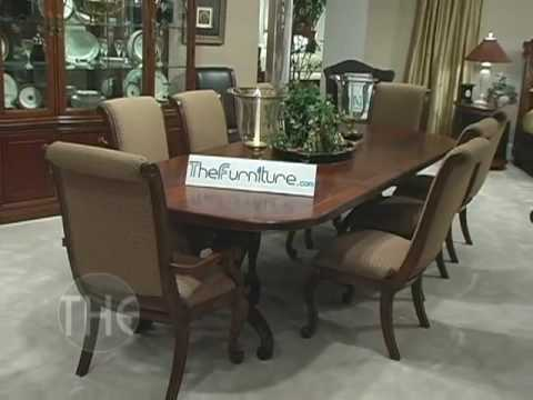 Dining Room Set With Double Pedestal Table Bob Mackie Home Classics Collection By American Drew