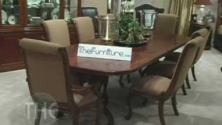Dining Room Set With Double Pedestal Table, 'bob Mackie Home Classics' Collection By American Drew