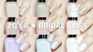 NEW Zoya Bridal Bliss Live Swatches + Review