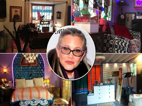 Inside Carrie Fisher's Extravagant And Quirky Beverly Hills Mansion That Could Be Into A Museum