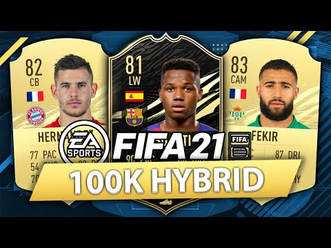 overpowered 100k hybrid w if ansu fati fifa 21 squad builder youtube ansu fati fifa 21 squad builder