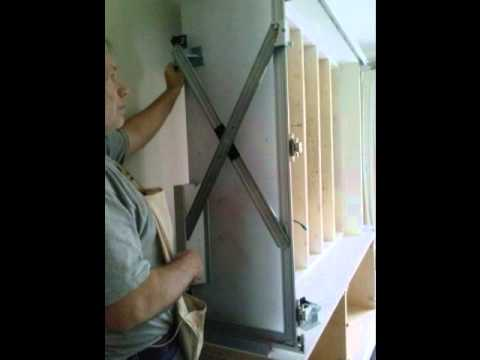 First Bead Inset Bi Fold Pocket Door Wall Utilizing Hawa