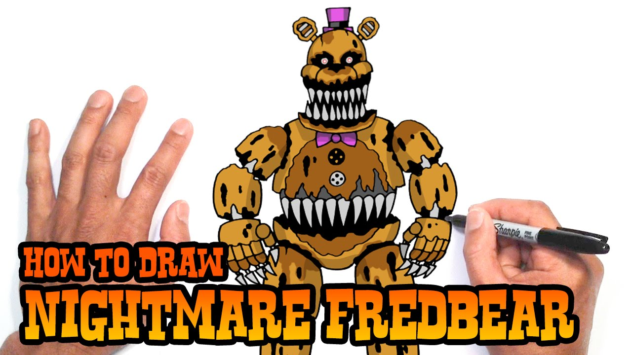 How to Draw Nightmare Fredbear | Five Nights at Freddy's