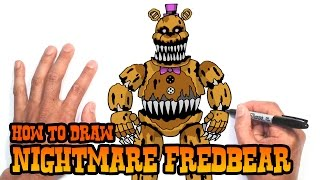 How to Draw Nightmare Fredbear | Five Nights at Freddy
