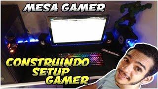 Construindo uma Mesa Gamer / Home Office / Setup Gamer - R$200 - MDF - Mesa com Led